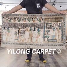 Yilong 2'x4' Egypt Pattern Handmade Carpet Handmade Exquisite Silk Area Rug 111A