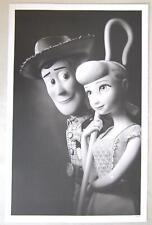 "Disney Toy Story Woody & Bo Peep B&W Litho Limited Edition to 500 11"" x 17"" RARE"