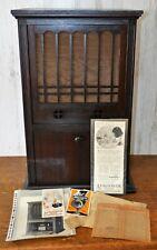Rare Magnavox Amplivox Caf-2 Cabinet Model Tube Radio Amplifier w/ Horn Speaker