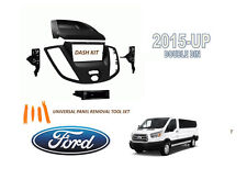 2015 - UP FORD TRANSIT VAN Double DIN Dash Radio Install Kit with Tool Set