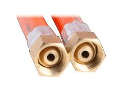 LPG NATRUAL GAS HOSE 6mm PVC 1/4'' BSP FC x 1/4'' BSP FC 6HAB0300 300mm