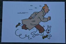 Tintin - carte postale - Tintin et Milou courant - n°03020 Ed Moulinsart 2011