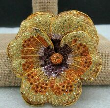 Pansy swarvoski crystal Pin Qvc $165 Joan Rivers Elegance In Bloom Pave