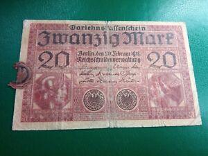 GERMANY - 20 MARK 1918 - BANKNOTES