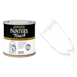 Sale Rust-Oleum Painters Touch Multi-Surface Paint White Satin 250ml Toy Safe!