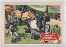 1989 Topps Batman Deluxe Reissue Edition Red Bat #30A Undone by an Umbrella 2u3