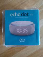 New Amazon Echo Dot With Clock Smart Speaker and Alexa Voice - Sandstone