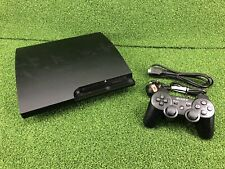 Sony PS3 PlayStation 3 Slim 160 GB Charcoal Black Console Ready to GO CECH-3003A