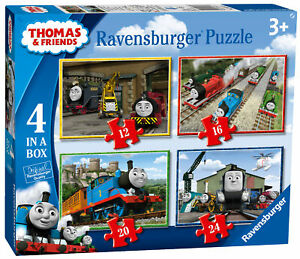 06937 Ravensburger Thomas & Friends Jigsaw Puzzles 4 in a Box Childrens Kid 72pc