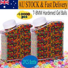 AU 40000PCS Hardened Gel Balls 7-8MM + 2PC Water Bottle Gel Blaster Toy Gun Ammo