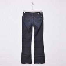 Rock & Republic R&R Dark Blue Black Low Rise Boot Cut Stretch Denim Jeans 25 31