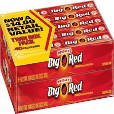 Wrigleys Big Red chewing gum, Cinnamon, 5 sticks per pack ( 40 total packages )