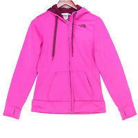 The North Face Women's Pink Full Zip Hoodie Sweatshirt - Size Small