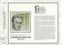 Foglio CEF 1er Giorno Sul Seta Francia Charles Dullin 1985