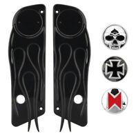 Black Saddlebag Saddle Latch Accent Skull Cover For Harley Touring Classic FLHTC