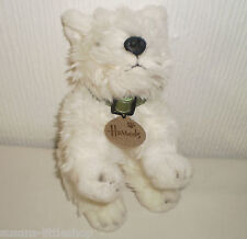 Harrods West Highland White Westie Terrier Dog Puppy Soft Toy Beanie Collectable