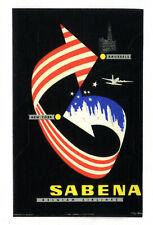 SABENA - New York - Type  1 - 11cm - étiquette valise - Luggage Label