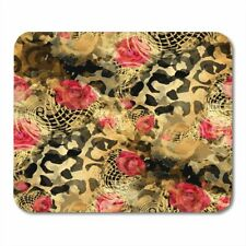 Leopard with Golden Mouse Pad Lovely Mouse Mats Computer PC Table Non slip