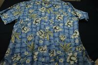 Ocean Pacific Blue Hawaiian Cotton Medium Men's Shirt