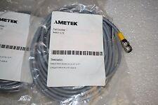 Ametek Gemco 949011L12, 12 Foot 5 Pin Straight 12mm Euro Connector (Shielded)