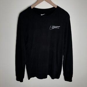 Nike Off White Virgil Abloh Off Campus Black Long Sleeve Tee T-shirt Medium