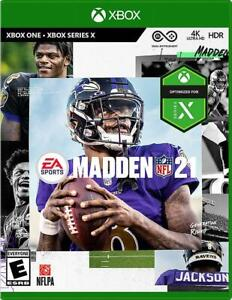 Madden NFL 21 (Microsoft Xbox One / Series X) EA Sports Football NEW SEALED XB1