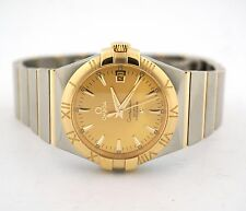 OMEGA CONSTELLATION CO-AXIAL 18K YELLOW GOLD STEEL 123.20.35.20.08.001 WATCH