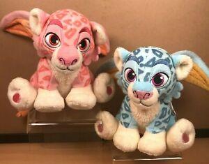 "2x Disney Store Elena of Avalor ESTRELLA & ZOOM 6"" Plush Leopard Baby Jaquin"