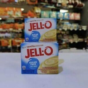 Jell-O Pudding Sugar Free Vanilla 1oz (28g) X 2 Boxes. USA Import.