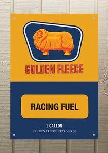 Golden Fleece Racing Fuel Petrol Oil Man Cave Metal 594mm x 420mm Sign