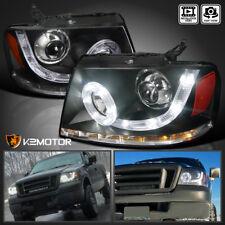 04-08 F150 06-08 Mark LT SMD LED Halo Signal Projector Headlights Black