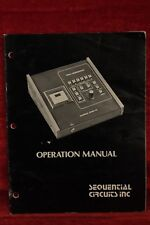 1981 SEQUENTIAL CIRCUITS Operation Manual for POLY SEQUENCER for PROPHET-5