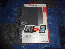 Griffin Snapbook for Apple IPad Mini 4 Gray/Silver Snap Book Full Case Cover