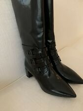 Jil Sander Ladies Boots Black Leather Size 41 NEW with Box