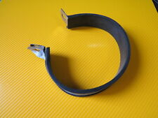 exhaust strap for round or oval motorcycle exhaust. Stanless steel with rubber