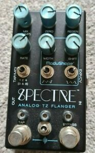 Chase Bliss Audio Spectre Analog TZ Flanger Guitar Effect Pedal Blue Knob Mod