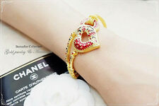 Thai Gold Bracelet Jewelry 24k 22k Plated Baht Gp Yellow 23k 7 Bridal Heart