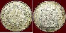 FRANCE, Hercule-'Hercules, 5 Franchi-Francs, 1876A, Parigi-Paris, Silver,