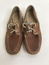 Sperry Top-sider Women's Size 9.5M Tan Glitter Leopard Boat Shoes EUC