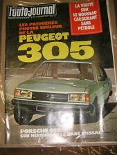 L'auto-journal N° 18 1977 Peugeot 305 Carburant sans pétrole Porsche 928