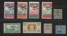 French colony of Wallis & Futuna, lot of 9 mint stamps, some overprint, see scan