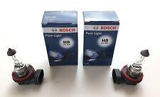 2 x Bosch Pure Light H8 Lampe 12V 12 Volt 35W 35 Watt E-Prüfzeichen PGJ19-1