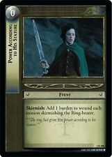 LoTR TCG FoTR Fellowship Of The Ring Power According To His Stature 1R308