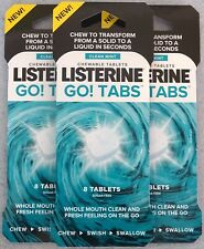 Listerine Clean Mint Go Tabs 24 Tablets 3 X 8 Packs Multi Pack New Mouth Wash