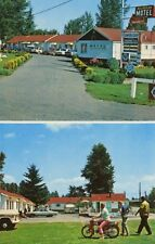 Beladean Motel Surrey BC Multi-view Motorcycle People Cars Vintage Postcard D10c
