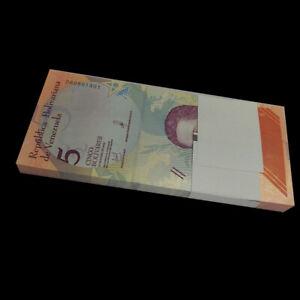 Bundle Lot 100 PCS Venezuela 5 Bolivares, 2018, P- NEW, UNC