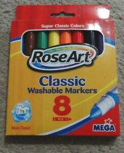 Markers RoseArt 3001 Classic Washable Fineline Markers, 8 pcs