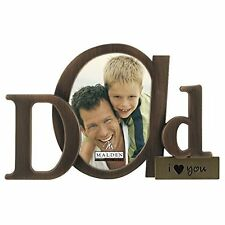 Picture Frame for Special Moments Dad I Love You Bronze Script Metal 3.5 x 4.5""