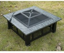 Professional Outdoor Garden Metal Firepit Table Fire Pit Brazier Square Stove