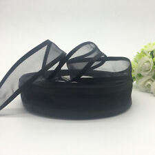 5Yards 25mm Satin Edge Organza Ribbon Bow Wedding Decoration Lace Craft Black